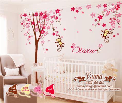 Nursery Wall Decal Cherry Blossom Tree Cuma Wall Decals Cherry Blossom Wall Decal For Nursery