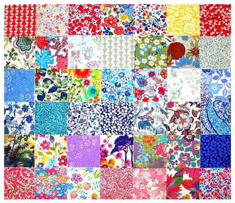 Patchwork Quilt Squares - liberty fabric charm squares 42 2 5 patchwork quilting
