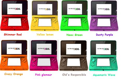 ideas for new 3ds colours by sulfura on deviantart