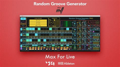 Pattern Generator Max For Live | audiomodern random groove generator max for live device