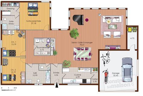 Plan Maison Plain Pied 50m2 Maison Ossature Bois Projet une maison en ossature bois d 233 du plan de une maison