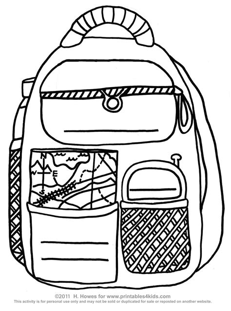 backpack printable coloring pattern coloring coloring pages