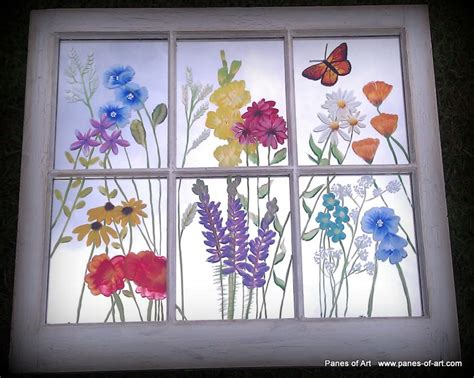 Decorative Window Panes by Panes Of Barn Quilts Painted Windows Window