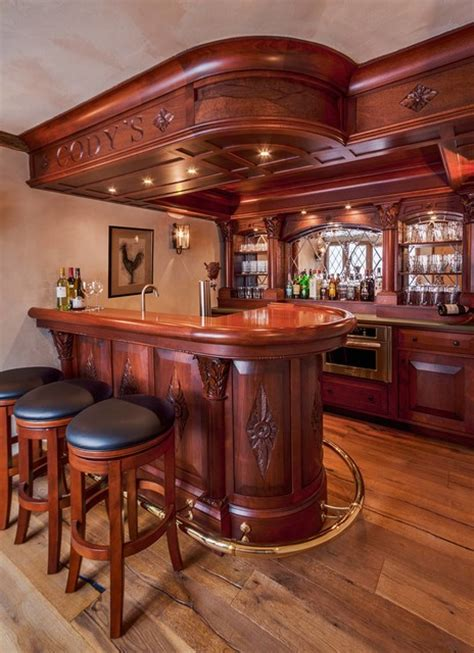 1920s Kitchen Design english style basement pub traditional home bar