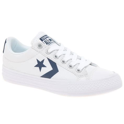 converse player lace youth canvas shoes