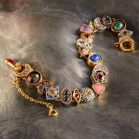 vintage slide bracelet charm bracelet bracelet