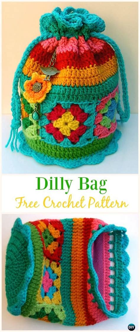 crochet dilly bag pattern 9204 best granny square appreciation images on pinterest
