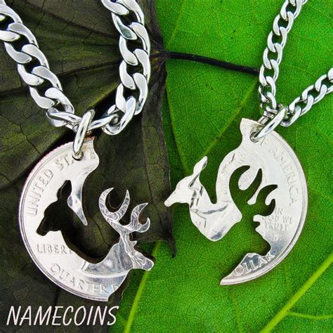 buck and doe necklace relationship with stainless