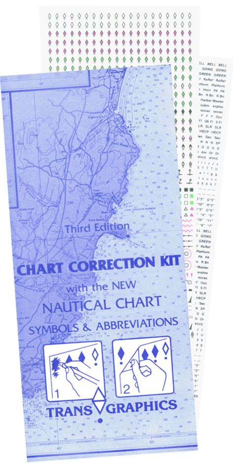 chart correction template transgraphics trans graphics chart correction kits