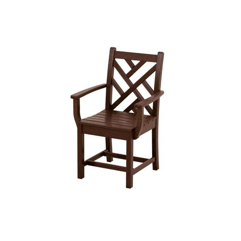 Patio Chairs Home Depot Terrace Classics Mahogany Patio Dining Arm Chair Ivtd210ma The Home Depot