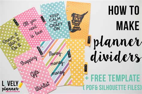 how to customize template how to make planner dividers for your filofax or kikki k