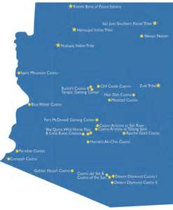 arizona casino map arizona casinos arizona age travel guide