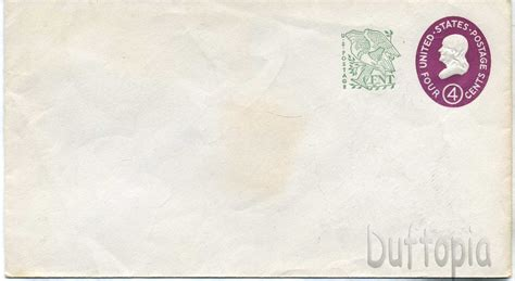 Us 4 Cent Sted Envelope 4 3 4 X 6 1 2 Envelope Template