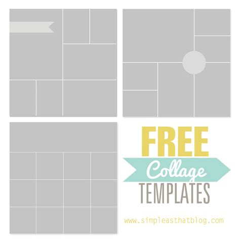 Free Collage Template by Free Photo Collage Templates From Simple As That