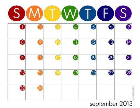 kid calendar template school year calendar free 2013 14 printable