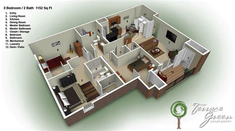 3 bedroom 2 bathroom floor plans terracegreenbranson