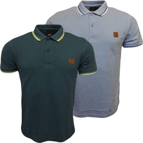 polo shirt bench mens polos bench pique polo shirt plain blue or green size