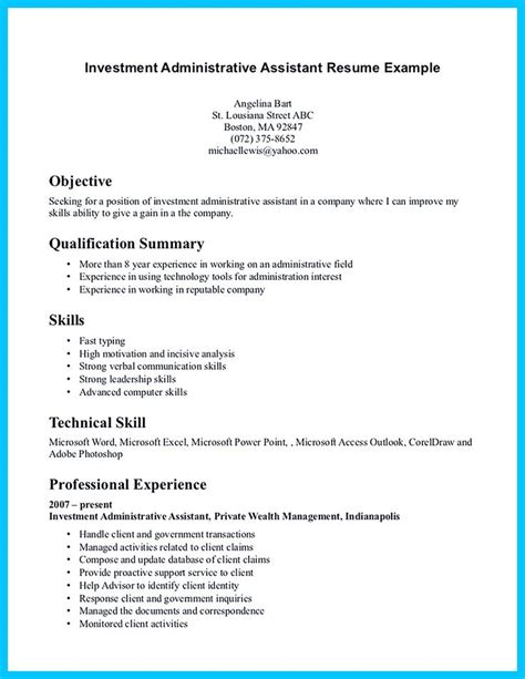 administrative assistant resume sample foodcity me