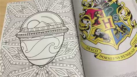 harry potter coloring book colored harry potter coloring book review and flip through hp and