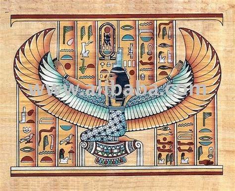 imagenes egipcias isis pinturas egipcias de papiro con alas de isis artesan 237 a y