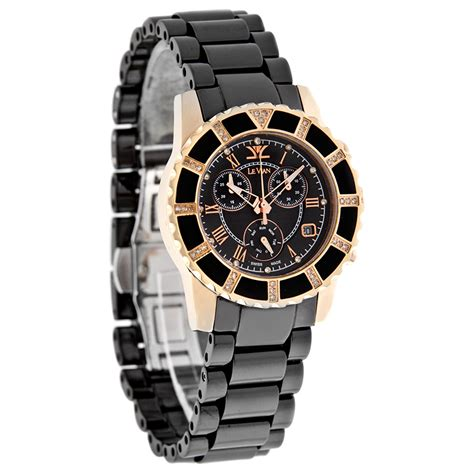 Swiss Army Sa0080 Black Ring Rosegold levian black ceramic day date swiss chronograph zag 261 ebay