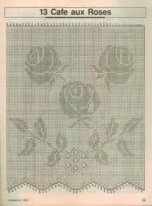 rideau avec boutons de roses grille filet crochet toutes