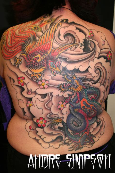 dragon and phoenix tattoo 31 best tattoos images on bird