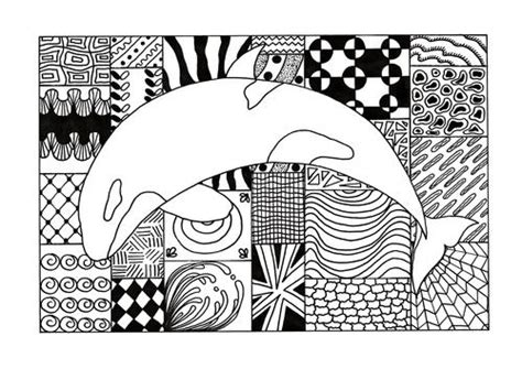 zentangle orca adult coloring page favecraftscom
