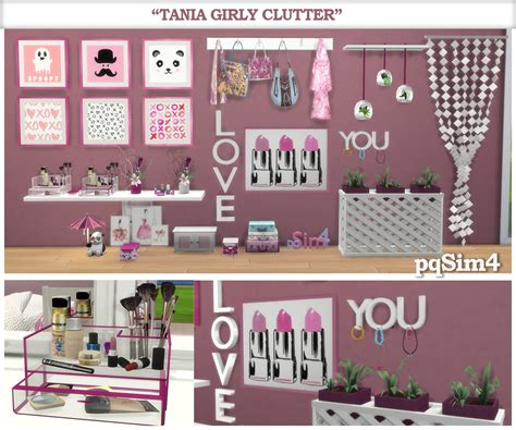 tumblr bedroom clutter sims 4 cc quot tania quot girly clutter sims 4 custom content