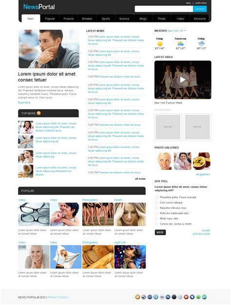 News Portal Website Template 28817 Portal Site Template