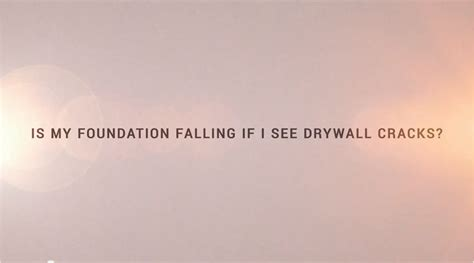 foundation sinking in one corner is my foundation falling if i see drywall cracks united