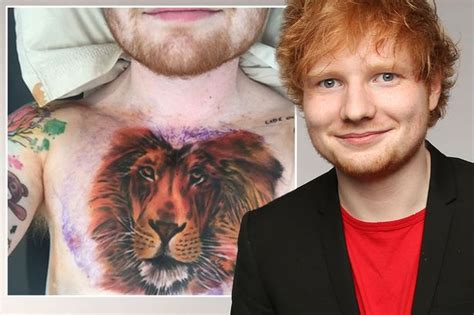 ed sheeran new tattoo tiger ed sheeran plans to get his entire body covered in tattoos