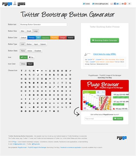 bootstrap themes buttons twitter bootstrap button generator by tydlinka on deviantart