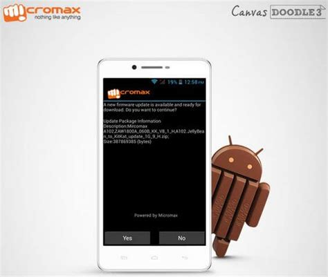 doodle update micromax released android 4 4 kitkat update for canvas