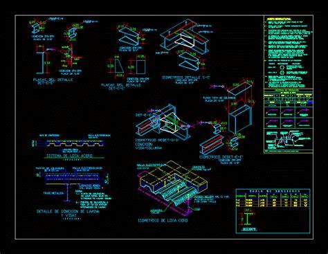 detalles de losacero dwg block  autocad designs cad