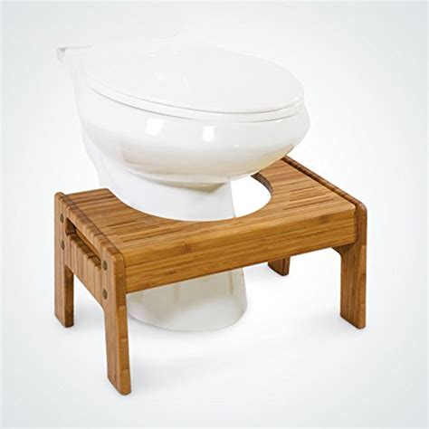bamboo bathroom stool squatty potty the original adjustable height bathroom