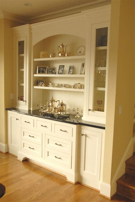 Built In Kitchen Cabinets by Built In Buffet Cabinet Painted Built In Buffet Cabinet