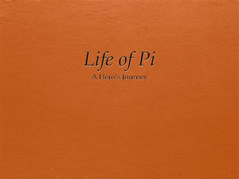 heroic quest pattern life of pi pi s journey