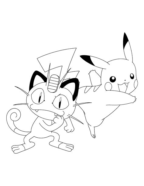 pokemon coloring pages meowth coloring pages pokemon mewth az coloring pages