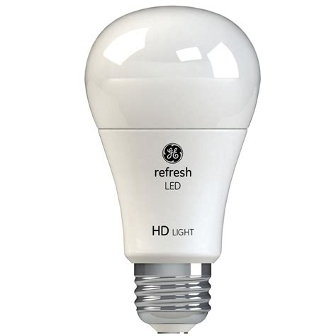 led light bulbs a19 ge 60w equivalent daylight 5 000k high definition a19
