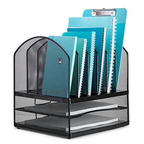 Vertical Desk Organizer Letter File Desktop Organizer 6 Vertical 2 Horizontal Sections Home Office Desk Ebay