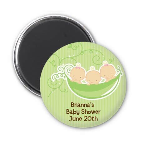 Three Peas In A Pod Baby Shower by Triplets Three Peas In A Pod Caucasian Personalized Baby