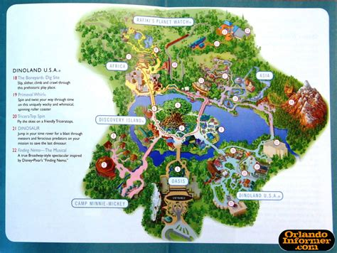 map of animal kingdom 2011 walt disney world vacation brochure let the memories