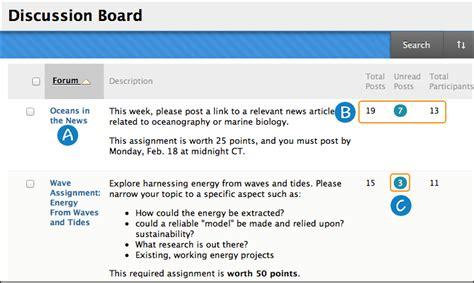 discussions blackboard help