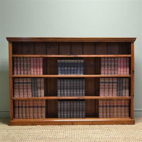 Large Open Bookshelf Large Antique Open Bookcase Antiques World