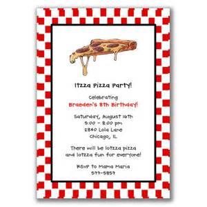items similar to pizza invitations for birthday on etsy