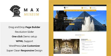 Museum V1 3 Responsive Theme max museum history archeology theme