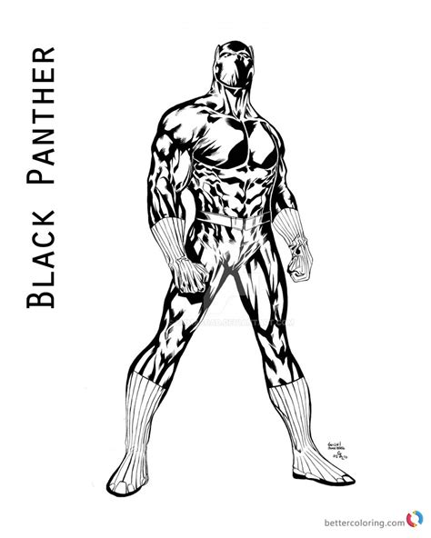 black panther coloring book black panther coloring pages of marvel free