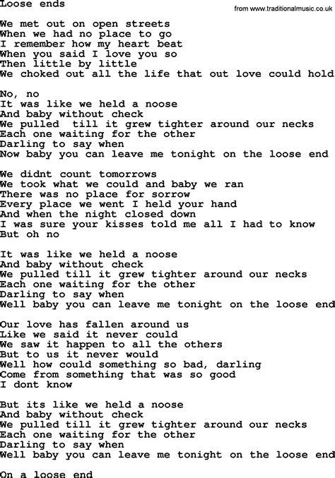 lyrics bruce springsteen bruce springsteen song ends lyrics