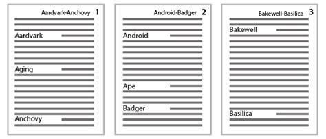 indesign running header encyclopaedia style indesign running headers where pages